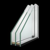 Мініатюра 1 - Двухкамерный стеклопакет